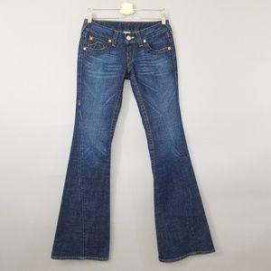 True Religion Joey Dark Wash Denim Flare Jeans